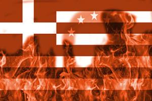 Flaming Greece mini